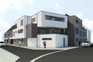 Vooraanzicht project Martinushof, De Klinge