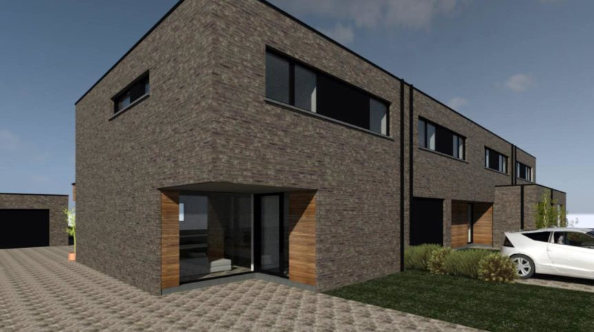nieuwbouwproject van 4 moderne ééngezinswoningen te Stekene